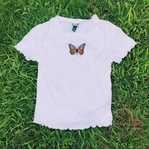 Wild Fable White Butterfly Top